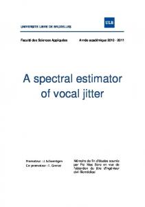 A spectral estimator of vocal jitter - UPCommons