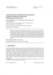 A Spectral Iterative Method for the Computation of Effective Properties ...