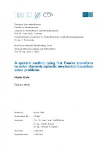A spectral method using fast Fourier transform to ...