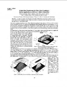 A Spot-Size Transformer for Fiber-Chip Coupling in Sensor ...