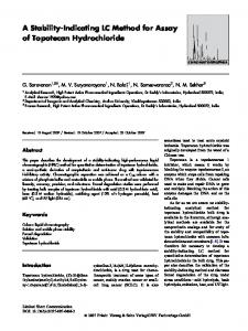 A Stability-Indicating LC Method for Assay of Topotecan Hydrochloride