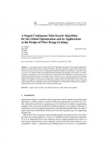 A Staged Continuous Tabu Search Algorithm for ... - Semantic Scholar