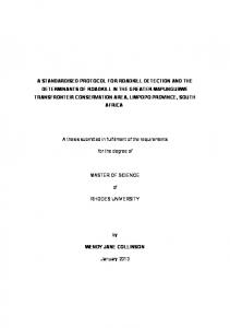 a standardised protocol for roadkill detection and the ...
