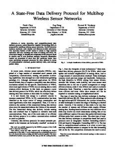 A State-Free Data Delivery Protocol for Multihop Wireless ... - CiteSeerX