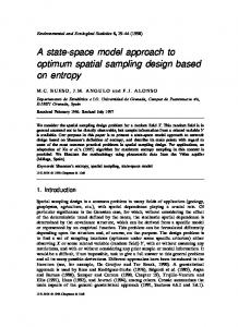 A state-space model approach to optimum spatial sampling design
