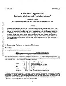 A Statistical Approach to Leptonic Mixings and Neutrino Masses