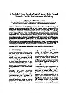 A Statistical Input Pruning Method for Artificial Neural Networks Used ...