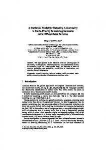 A Statistical Model for Detecting Abnormality in ... - Semantic Scholar