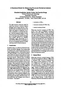 A Statistical Model for Measuring Structural Similarity between ...