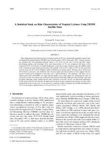 A Statistical Study on Rain Characteristics of Tropical Cyclones Using ...