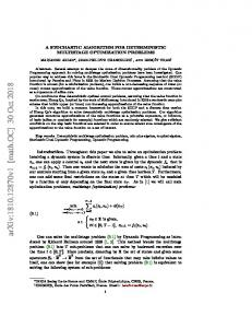 A stochastic algorithm for deterministic multistage optimization