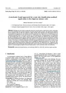 A stochastic based approach for a new site classification method ...