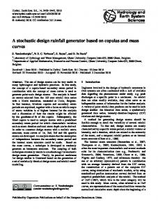 A stochastic design rainfall generator based on copulas and mass ...