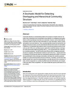 A Stochastic Model for Detecting Overlapping and