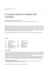 A stochastic model for workflow QoS evaluation1 - Hindawi