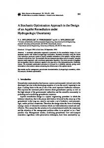 A Stochastic Optimization Approach in the Design of an Aquifer