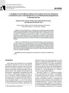 A straightforward and efficient method for the synthesis of diversely ...