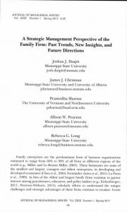 A Strategic Management Perspective of the Family Firm: Past Trends ...