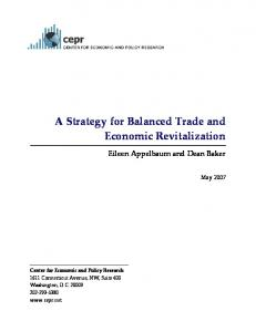 A Strategy for Balanced Trade and Economic Revitalization - CiteSeerX