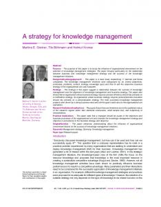 A strategy for knowledge management