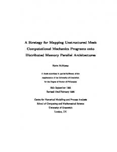 A Strategy for Mapping Unstructured Mesh Computational ... - CiteSeerX