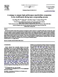 A strategy to prepare high performance starch/rubber ... - CiteSeerX
