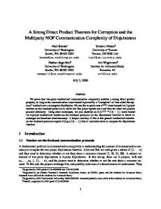 A Strong Direct Product Theorem for Corruption and the Multiparty ...