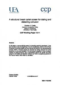 A structural break cartel screen for dating and detecting collusion