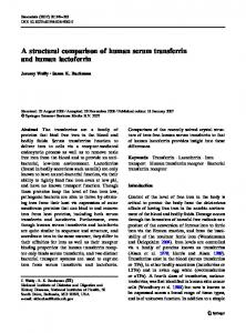 A structural comparison of human serum transferrin ... - Springer Link