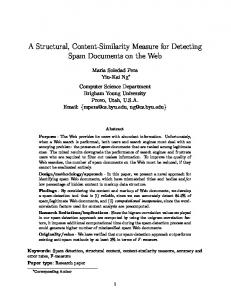 A Structural, Content-Similarity Measure for ... - Semantic Scholar
