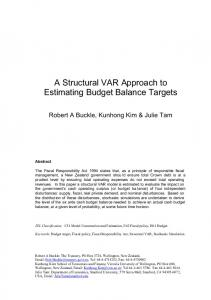 a structural var approach to estimating an appropriate budget balance ...