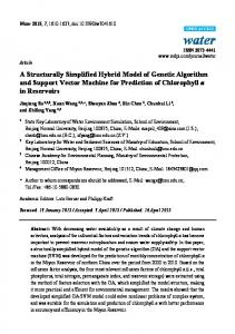 A Structurally Simplified Hybrid Model of Genetic Algorithm and ... - MDPI