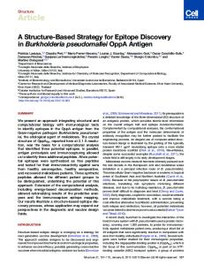 A Structure-Based Strategy for Epitope Discovery in ... - Cell Press