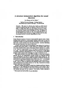 A structure independent algorithm for causal discovery - Institute for ...