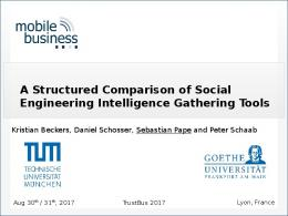 A Structured Comparison of Social Engineering ... - Sebastian Pape