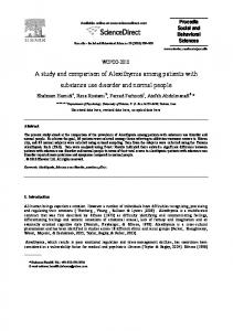 A study and comparison of Alexithymia among