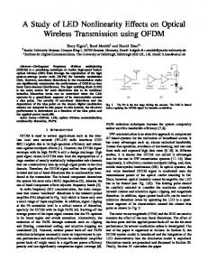 A Study of LED Nonlinearity Effects on Optical Wireless Transmission ...