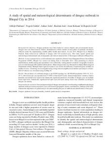 A study of spatial and meteorological determinants of dengue ...