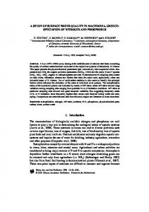A STUDY OF SURFACE WATER QUALITY IN