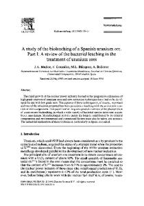 A study of the bioleaching of a Spanish uranium ore ... - ScienceDirect