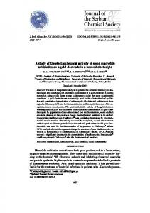 A study of the electrochemical activity of some macrolide ... - CiteSeerX