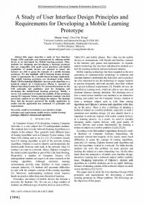 A Study of User Interface Design Principles and ... - IEEE Xplore