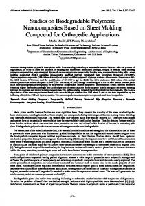 A Study On Biodegradable Polymeric Composites For Orthopedic ...
