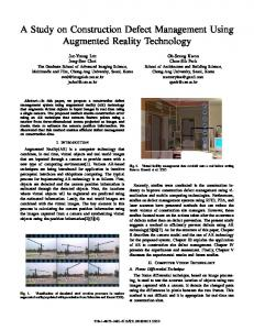 A Study on Construction Defect Management Using Augmented