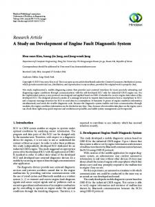 A Study on Development of Engine Fault Diagnostic System