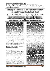 A Study on Influence of Ambient Temperature on Load ... - IJIR