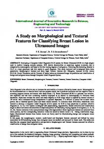 A Study on Morphological and Textural Features for Classifying ... - ijirset