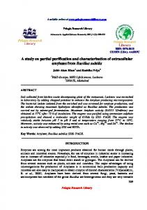 A study on partial purification and characterization of ... - iMedpub