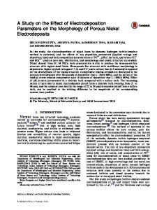 A Study on the Effect of Electrodeposition Parameters ... - Springer Link