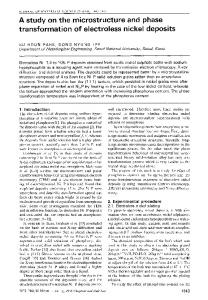 A study on the microstructure and phase transformation ... - Springer Link